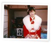 成人式になくなった祖母との写真